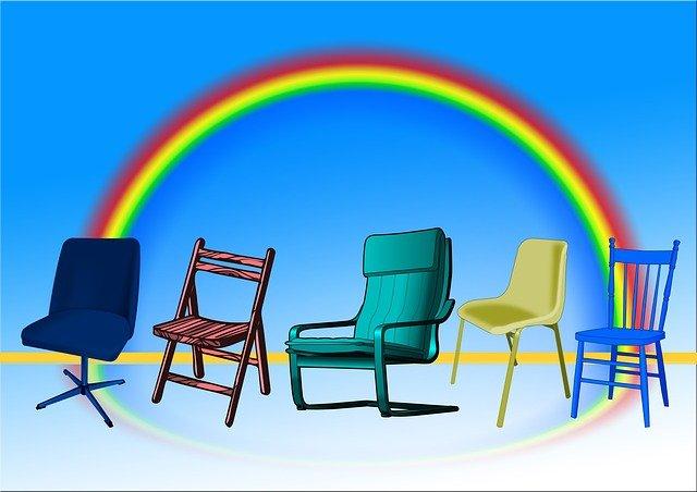 duha a židle